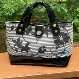 Roxy floral and black purse